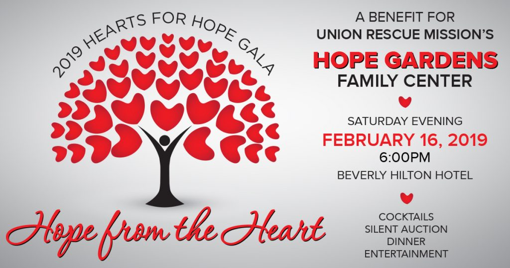 2019 Hearts for Hope Gala - Union Rescue Mission