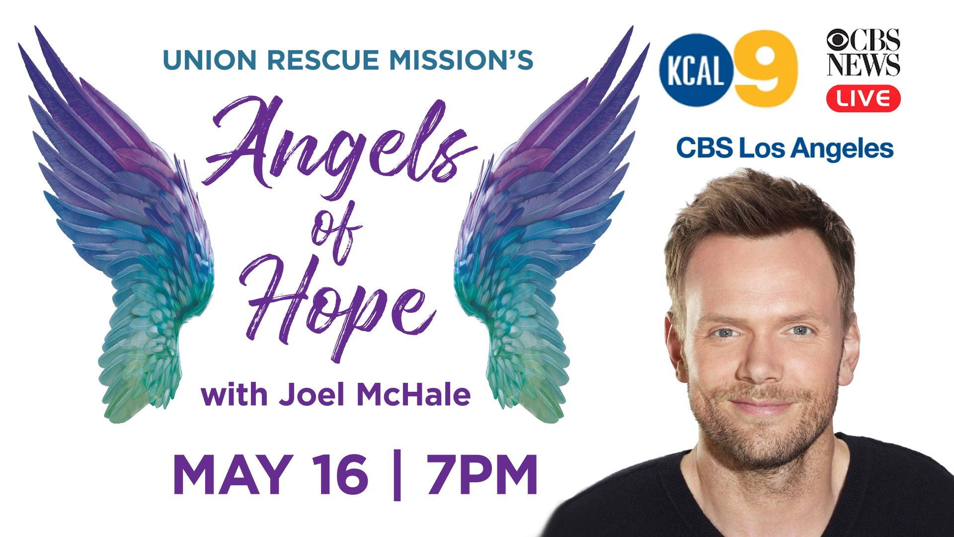 Angels of Hope TV Event KCAL 9 May 16 @ 7PM -- COPY